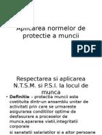 Aplicarea Normelor de Protectie a Muncii