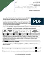 Tax Statement 2014 Cbhs