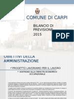 PRESENTAZIONE BILANCIO 2015