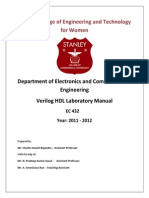 Verilog HDL Lab Manual