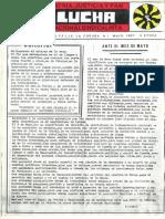 Lucha nº 1. Revista de las Falanges Juveniles de España en La Coruña. Mayo 1987