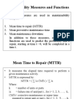 Maintainability Measures and Functions