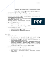 Outline for UN and EU in international policy