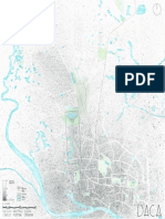 plano Dhaka densidad poblacion