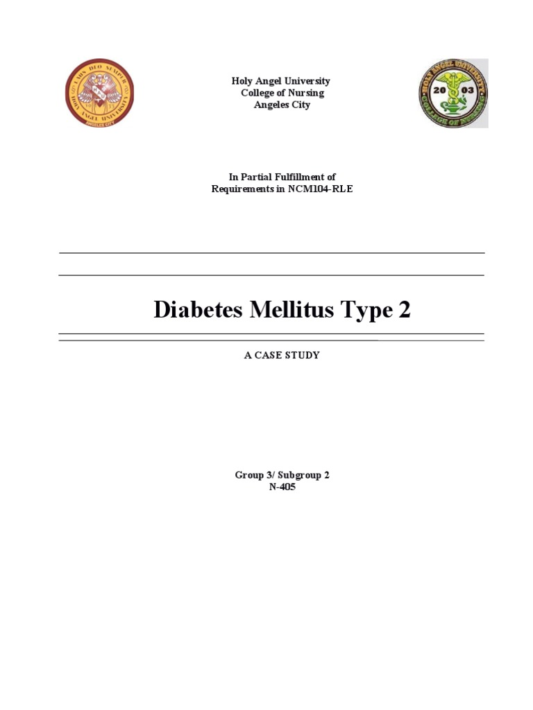 case study on diabetes mellitus type 2 Case study: a patient with uncontrolled type 2 diabetes and complex  comorbidities  of medical care for patients with diabetes mellitus (position  statement.