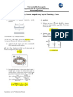 Ley de Ampere, Fuerza Magnética y Ley de Faraday y Lenz _ Solución