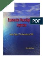 051124 Expl. Neurológica en Urgencias Dr Alfredo Garcia