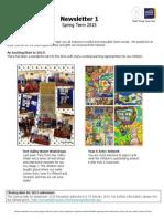 Spring Term 2015 Newsletter