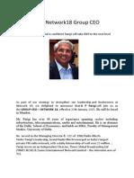 Parigi To Be Network18 Group CEO