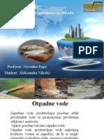 Otpadne Vode, Klasifikacija i Odabir Postupaka Za Obradu