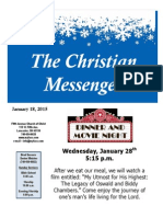 January 18 Newsletter