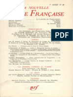 La Nouvelle Revue Francaise n 84 Decembre 1959 Index