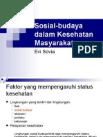 Sosial-budaya Dalam Kesehatan Masyarakat