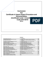 Certificate in Import Export Procedure and Documentation