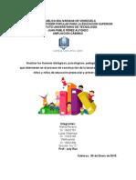Explique Los Factores Que Intervienen en El Proceso de Aprendizaje de La Lectura y La Escritura en Niños y Niñas en Edad Preescolar y Primer Grado