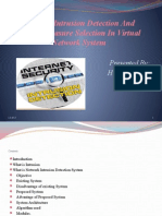 Network Intrusion Detection and Countermeasure Selection in Virtual