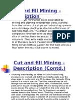 Cut & Fill Stoping