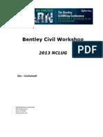 Bentley Civil Workshop 2013