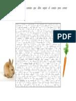 Laberinto Conejo y Zanahoria
