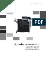 Bizhub 423 363 283 223 Ug Network Administration Es 1 2 1