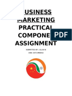 Business Marketing Practical Componet Assignment