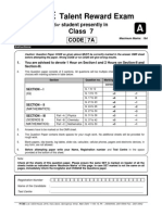 7th standard fiitjee sample paper | Median | Heat