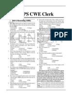 02.Practice Set Ibps Cwe Clerk-IV