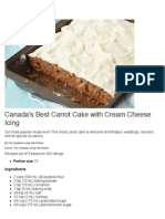 Canada's Best Carrot Cake With Cream Cheese Icing Recipe - Canadian Living