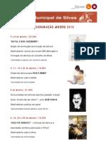 Biblioteca Municipal Silves_agenda cultural Janeiro 2010