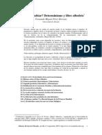 Determinismo y Libre Albedrio