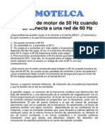 Motor 50Hz Trabajando A 60Hz