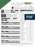 Mage character sheet