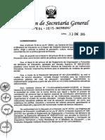 RSG N° 004-2015-MINEDU contratos cas modelo JEC