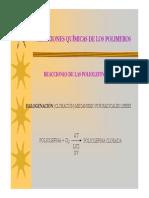 BLOQUE 6 - Reacciones Quimicas de Los Polimeros