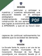 Mision, Vision y Valores de La Escuela