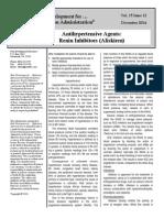 12 2014 Antihypertensive Agents- Renin Inhibitors Aliskiren