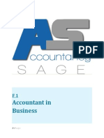 F1- Accountant in Business