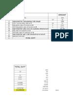 Custom Duty Calculator
