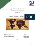 Studiu Statistic Cafea