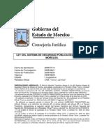 Ley Del Sistema de Seguridad Pública Del Estado de Morelos
