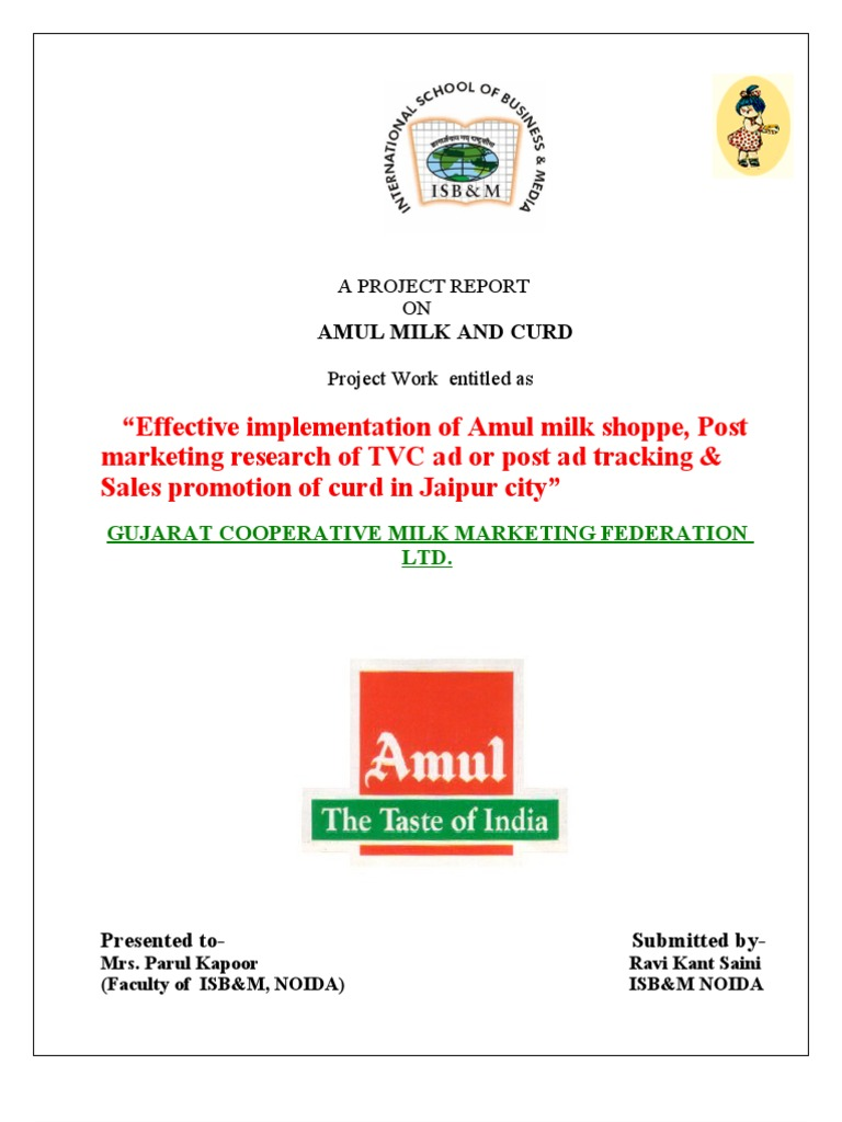 tvc campaign for amul milk study The tvc dialogues are as follows:  (ad campaign named airtel challenge now m/s vodafone,  gujarat co-operative milk marketing federation ltd product: amul.