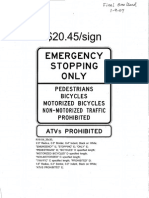MnDOT Emergency Stopping Only - Sign