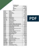 HITACHI-Spare Parts Price List