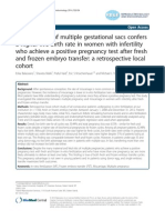 The Presence of Multipel Gestational Sacs Confers a Higher Live Birth Rate in Women With Infertility Who Achieve a Positive Pregnancy Test After Fresh and Frozen Embryo Transfer