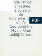 Modalităţi de Manifestare Ale Surselor de Putere-Instrument Al Coordonării-la Nivelul Unei Unităţi Militare