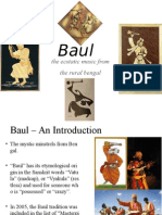 Baul Presentation Tagore Version