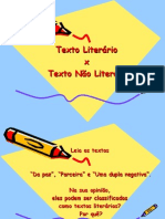 12 08 Texto Literário Texto Não Literário