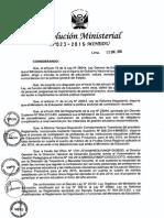 RM N° 023-2015-MINEDU, Normas que regulan la contratación de profesores en las II.EE. de E.B. y E.T.P. en el año 2015