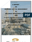Report on Working Capital Management of Ril by Mehul Patel