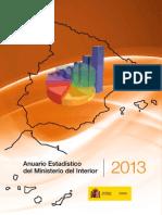 Anuario estadístico del Ministerio del Interior 2013